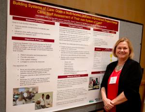 Deb presenting poster